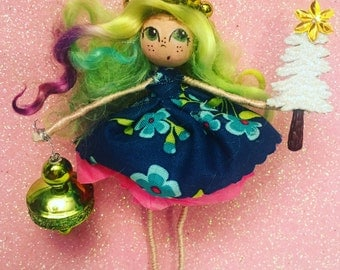 Whimsy Wood Doll Ornament