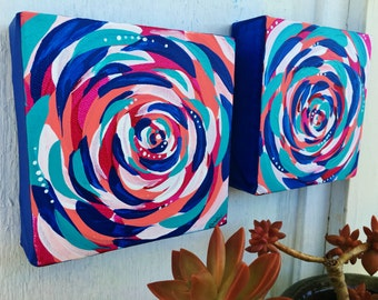 abstract II - original mini abstract painting - abstract rose - abstract flower - healing art - original painting - affordable art