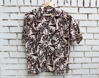 Vintage FLORIDA SUNWEAR Tropical Shirt Button Up Outdoor Outerwear Shortsleeve Beach Miami FL