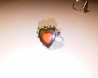 2 Silverplated Heart Moodrings
