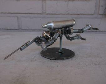 Scuba Diver Metal Bolt Figurine