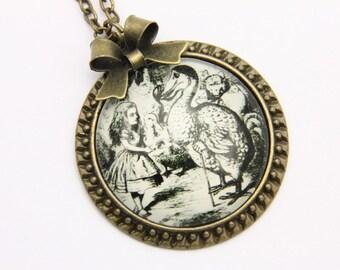 Alice in wonderland Necklace, alice in wonderland jewelry, 2525C
