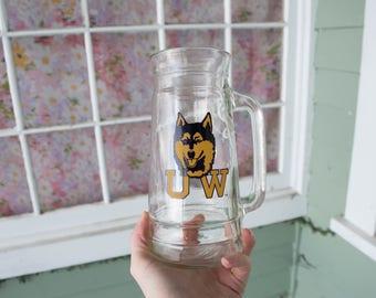 Vintage UW Huskies Beer Stein
