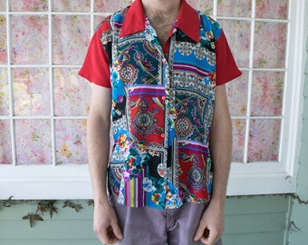 Vintage Funky Paisley Pattern Shirt