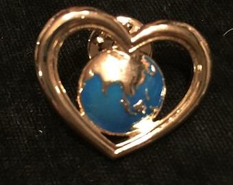 Heart World Pin
