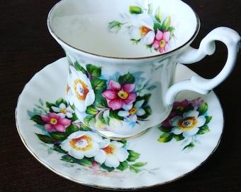 Royal Albert England Summertime series Teacup and Saucer