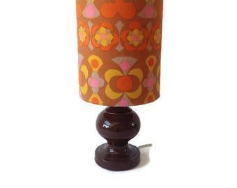 Vintage sheerlite lamp and shade made from vintage Heals Fabric