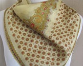 """Vintage Lightweight India Silk Scarf - 22"""" Inch Square - Affordable Scarves!!!"""