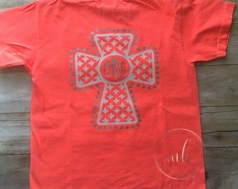 Cross Shirt for Women-Cross Shirt-Cross for Girls-Christian Shirt-Jesus Shirt-Monogram Shirt-Top and Tees-Womens Cloting-Girls Clothing