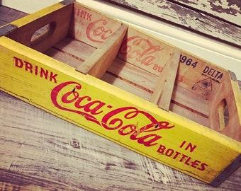Very RARE Vintage 1964 Have a Coke Coca Cola Wood Soda Pop Crate (226)