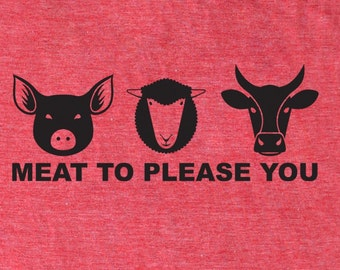 Men's foodie shirt Meat to Please You, chef t-shirt, paleo tshirt, crossfit shirt, meat, beef, carnivore, men's funny t-shirt, food shirt