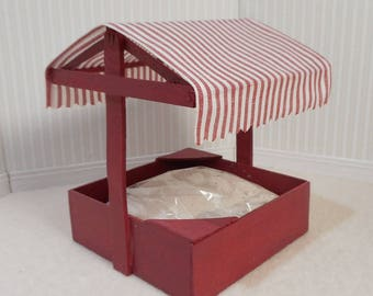 Dollhouse miniature 1:12 scale covered Sandbox