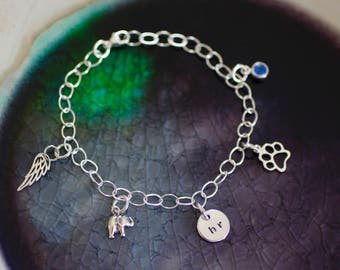 Charm Bracelet - Custom Charms - Custom Charm Bracelet - Initial Bracelet -Sterling Silver Charm Bracelet - Charm Bracelet - Girl Bracelet