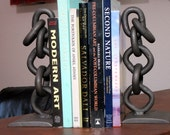 Salvaged Chain Bookends