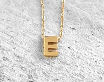 TINY INITIAL Necklace with Initial | gold