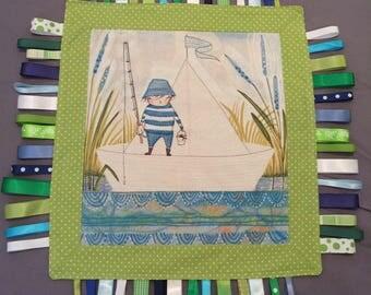 CUDDLE Taggie Blanket QUILT with Cori Dantini Designer Fabric
