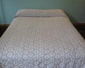 Vintage Hofmann Daisy Chenille Queen Bedspread, White Daisy on Blue, Hoffman Chenille, Cotton Chenille, Daisy Bedspread, Gorgeous!!