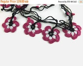 Gift For Mom Crochet Floral Necklace, Gift for Her, Crochet Necklace, Infinity Necklace, Crochet Jewelry, Floral Necklace, Gift for Mom, Cro