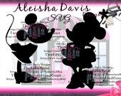 Minnie Mouse SVG Prissy Minnie/ Kissy Minnie