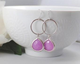 The Kassie Earrings - Purple