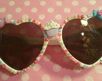 Sweets sunglasses, bling sunglasses, candy sunglasses, kitsch sunglasses, heart shaped sunglasses