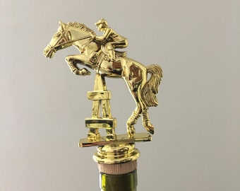 Equestrian Wine Stopper, Horse Jumping Bottle Topper, Equestrian Jumping Gift, Horse Jumper Wine Gift, Wine Lover Gift, Equestrian Bar Gift
