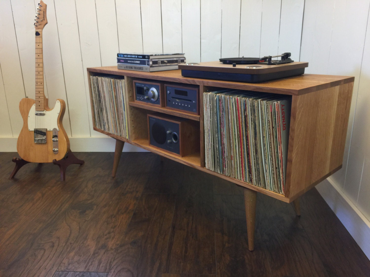 Design Record Player Cabinet mid century modern turntable stand record player cabinet