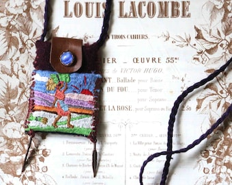 small pendant bag : in the fields