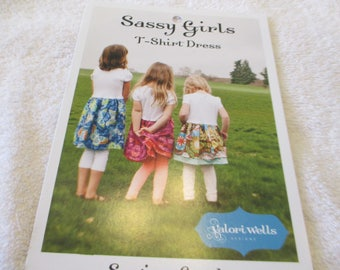 Paper Pattern for Sassy Girls T-Shirt dress in sizes 2-7 by Valorie Wells