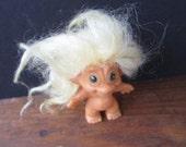 Uneeda White Hair Vintage Troll Doll Toy Collectible Wishnik