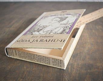 """Hollow Book Treasure Box Sherlock """"War and Peace"""", Secret Hideout"""