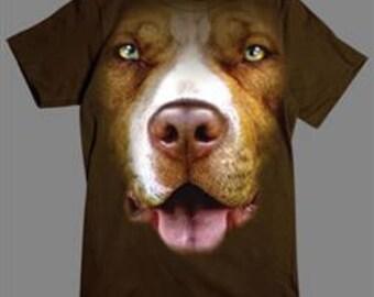 3 D Pit Bull T shirt