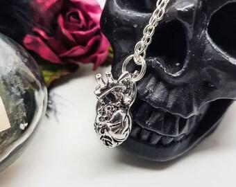 Anatomical Heart Pendant, Anatomical jewelry, medical jewelry, nurses gift