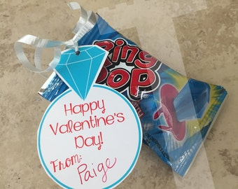 Ring Pop Valentine's Day Tags - Instant Download - Ring Pop Valentines Tag - Ringpop Tags - ringpop tags - ring pop tags