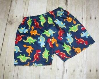 Boys Dinosaur shorts  sz 3m, 6m, 9m, 12m, 18m, 24m/ 2, 3,4,5,6,7,8 dinosaur Stegosaurus T-rex dinosaur birthday