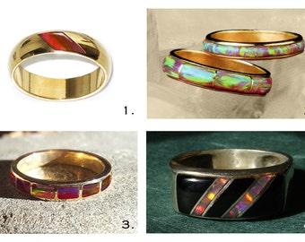 Rings /His n Hers/Gents Custom Inlaid Bands/Handmade/ by Reyes Ulibarri