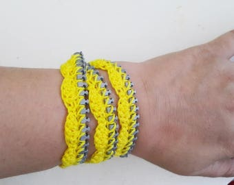 Hand-crochet Rope Bracelet , beach,boho, lolita,wristband,wriststrap