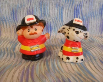 Fisher Price Little People Fire Man and His Fire dog