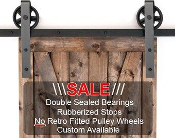 Barn Door Hardware Kit   Spoked Wheel Barn Door  Bearing Barn Door   Custom  Barn