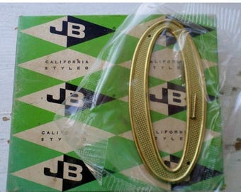 """ON SALE Vintage, Jaybee, House Number, 0, Zero, California Styled, 4"""", 4400-03-01 Solid Polished Brass Non-Rusting, New Old Stock, Made in U"""
