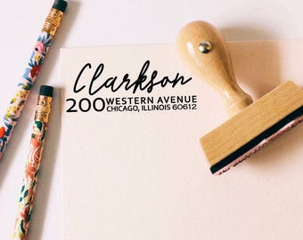 Return Address Stamp, Self-Inking Address Stamp, Personalized Address Stamp, Calligraphy Address Stamp, Custom Address Stamp
