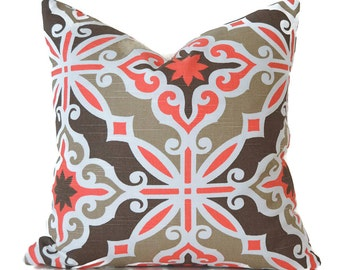 Pillow Covers ANY SIZE Decorative Pillow Cover Coral Pillow Premier Prints Harford Bittersweet