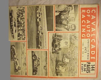 Spring Summer 1971 Cavalcade of Auto Racing Magazine Action Monthly , NASCAR Stock Car Racing Magazine with 144 pages of Text & Pictures