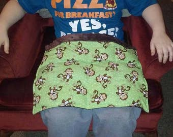 Weighted lap pad for children/3 pounds/Laughing Monkeys/ADHD/Autism/Sensory tool/great for children that have high energy