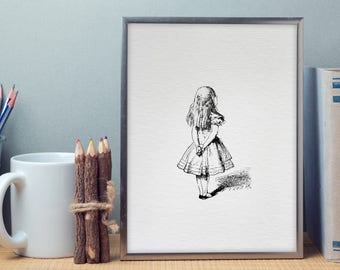 Wall Art - Art Print - Home Decor - Nursery Decor - Vintage Illustration - Alice in Wonderland - Playing Cards