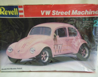 Vintage Revell 1994 VW STREET MACHINE Model Kit Car in Sealed Box Pink Volks Wagon Model Car Kit in sealed box 1994 offers considered