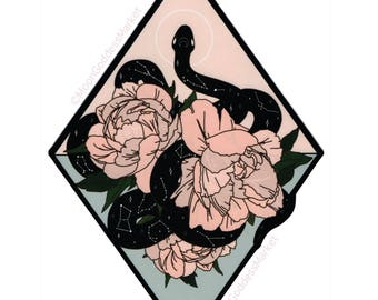 "10"" Large Iron On Patch by Moon Goddess Market Celestial Snake patch 