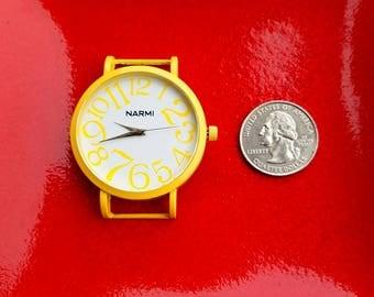 Yellow Narmi Watch, Yellow Narmi Watch, Big Narmi Watch Face Piece