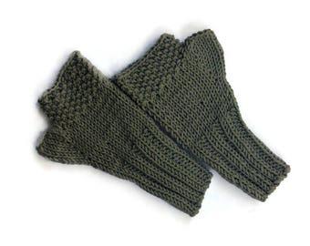 Fingerless mittens autumn fashion women's fall fashion accessories handmade  woollen