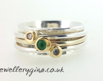 Green with envy, birthstone spinnng ring, spinning ring, mothers ring,